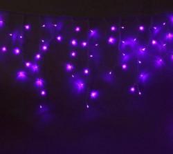 Гирлянда уличная Luazon Бахрома УМС 3м*0.6м 100Led Без Контроллера, фиолетовый, белая нить