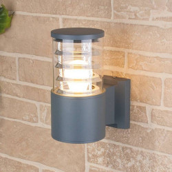 Светильник уличный Электростандарт 1408 TECHNO настенный 1х60Вт Е27 серый IP54