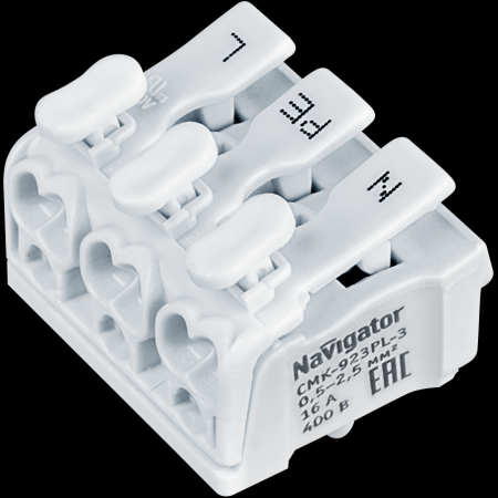 Клемма Navigator монтажная пружинная NTC-CMK-923PL-3 упак 5шт