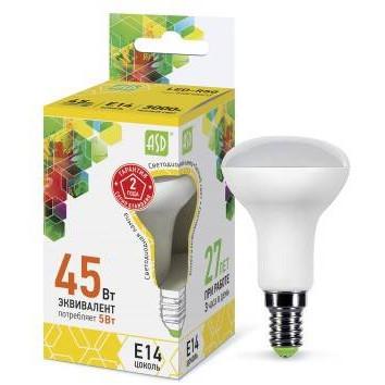 Лампа светодиодная ASD LED-R50-standart 3Вт 3000К Е14, в Перми