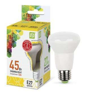 Лампа светодиодная ASD LED R63 standart E27 в ассортименте, в