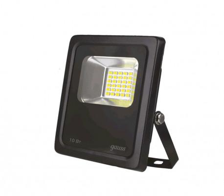 Прожектор светодиодный Gauss LED 10W IP65 6500К черный (24), в