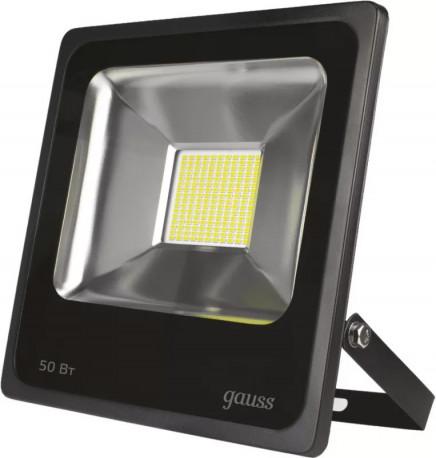 Прожектор светодиодный Gauss LED 50W IP65 6500К черный (40), в