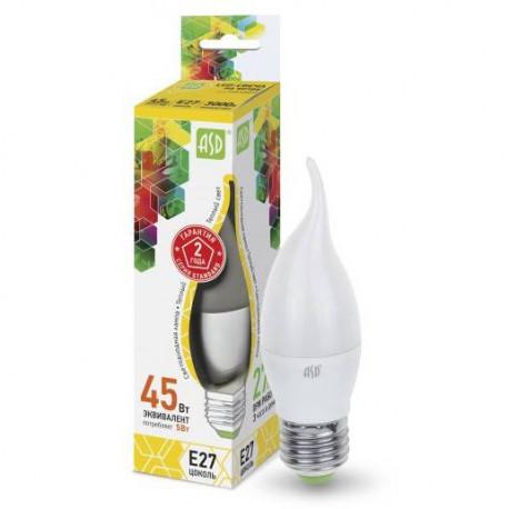 Лампа светодиодная ASD LED-Свеча на ветру-standart 5Вт 3000К