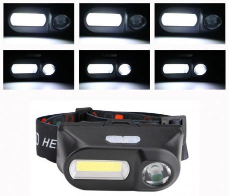 Фонарь налобный XPE LED, 3800ml COB, Mini, в Перми