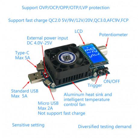 Электронная нагрузка,Тестер 35 Вт 5A USB, в Перми
