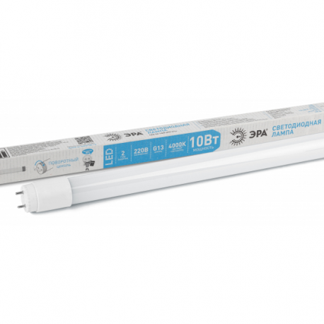 Лампа СД ЭРА SMD T8 10Вт 840 G13 600mm 800Лм пов.цок (25), в