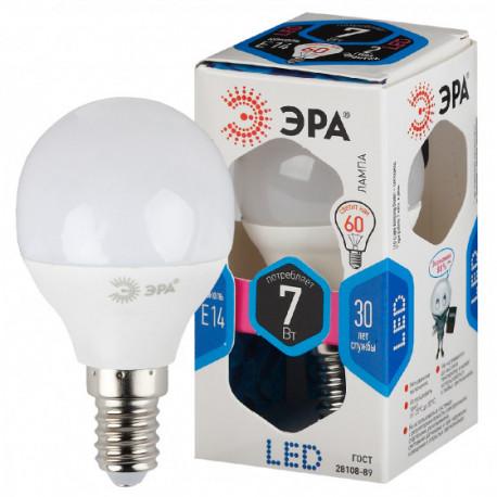 Лампа СД ЭРА SMD P45 7Вт 840 E14 (6/60), в Перми