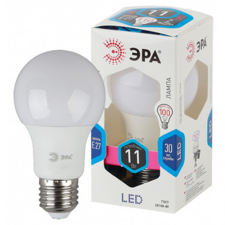 Лампа СД ЭРА SMD A60 11Вт 840 E27 (10/100), в Перми