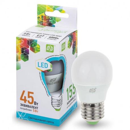 Лампа светодиодная ASD LED-Шар-standart в ассортименте, в Перми