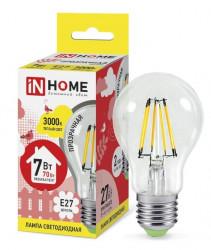 Лампа светодиодная IN HOME LED-A60-deco 7Вт 3000К Е27, в Перми