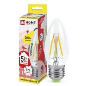 Лампа светодиодная IN HOME LED-deco-СВЕЧА 5Вт 3000К Е27
