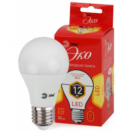 Лампа СД ЭРА ECO А60 12Вт 827 Е27 (10/100), в Перми