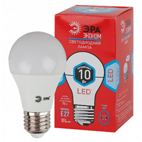 Лампа СД ЭРА ECO А60 10Вт 840 Е27 (10/100), в Перми