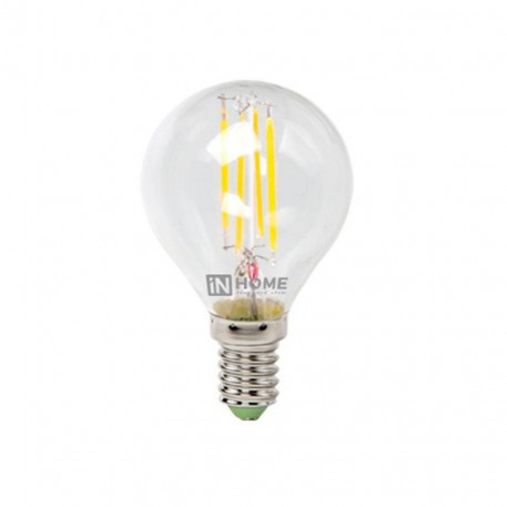 Лампа светодиодная IN HOME LED-Шар-deco 5Вт 4000К Е27,в Перми