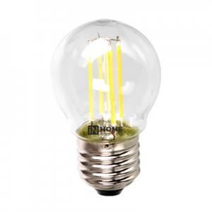 Лампа светодиодная IN HOME LED-Шар-deco 5Вт 3000К Е14,в Перми
