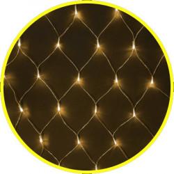 Гирлянда сеть теплый белый для помещения 1,5x1,5m