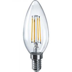 Лампа СД Navigator NLL-F-C35-6-230-4K-E14 свеча филамент, в