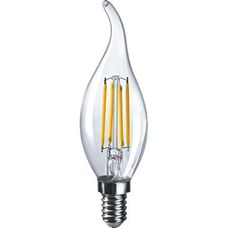 Лампа СД Navigator NLL-F-FC35-6-230-4K-E14 свеча на ветру