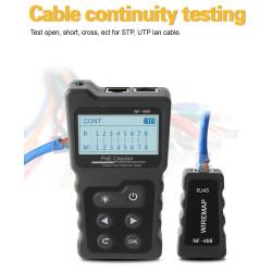 Многофункциональный тестер сетевого кабеля с PoE