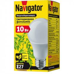 Фито-лампа Navigator NLL-FITO-A60-10-230-E27