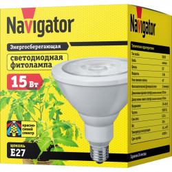 Фито-лампа Navigator NLL FITO PAR38 15 230 E27