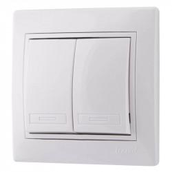 Выключатель MIRA 2СП белый (10/120)
