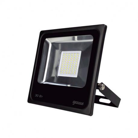 Прожектор светодиодный Gauss LED 30W IP65 6500К черный (10), в