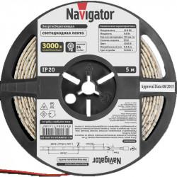 Лента СД Navigator NLS-3528WW120-9.6-IP20-12V R5 Теплая белая 3000К