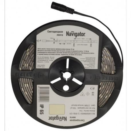 Лента СД Navigator NLS-5050WW30-7.2-IP20-12V R5 Теплая белая