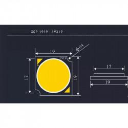 Купить Светодиод cob 3000K Ra83 24W 72-75V 300mA 19-19, в Перми