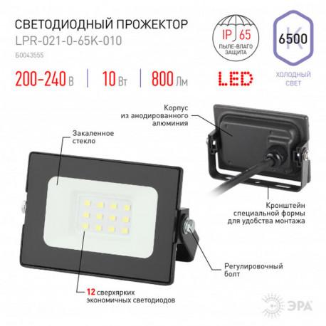 купить пермь Прожектор светодиодный ЭРА LPR-021-0-65K-010 10Вт