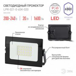 купить пермь Прожектор светодиодный ЭРА LPR-021-0-65K-020 20Вт