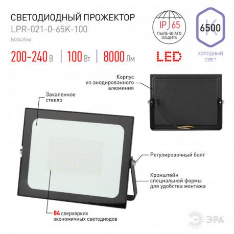 купить пермь Прожектор светодиодный ЭРА LPR-021-0-65K-100 100Вт