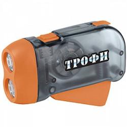 Купить Фонарь Трофи Динамо TD2 2LED, L1131, ремешок, картон