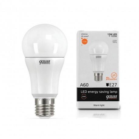 Лампа светодиодная Gauss LED A60 globe 12W E27 2700K, в Перми