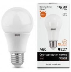 Лампа Gauss LED Elementary A60 10W E27 в ассортименте