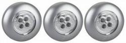 Фонарь ЭРА SB-504 пушлайт Аврора 4xLED, 3xAAA, серебристый, уп 3шт (20/120/480)
