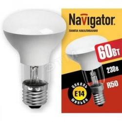 Лампа зеркальная Navigator R63 60Вт Е27 (10/100)