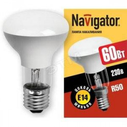Лампа зеркальная Navigator R63 60Вт Е27 (10/100), в Перми