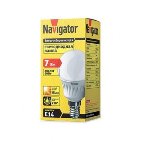 Лампы Navigator NLL G45 7 230 FR в ассортименте, в Перми