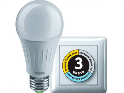 Лампа светодиодная Navigator NLL-A60-10-230-3COLOR-E27