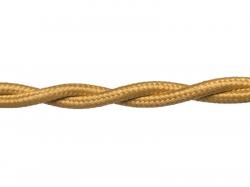 Провод РЕТРО ВВГ 2х1,5 ГОСТ золото (50), в Перми