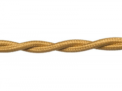 Провод РЕТРО ВВГ 2х2,5 ГОСТ золото (50)