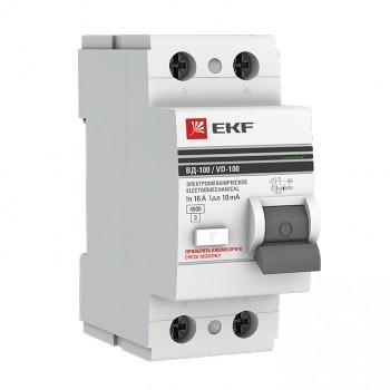 УЗО EKF PROxima 2п 16А 30мА электро-механическое (1), в Перми
