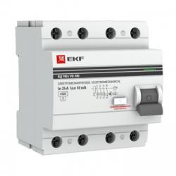 УЗО EKF PROxima 4п 25А 30мА электро-механическое (1)