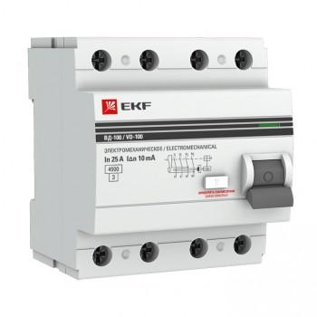 УЗО EKF PROxima 4п 25А 30мА электро-механическое (1), в Перми