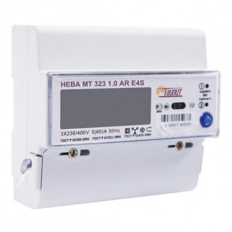 Счетчик НЕВА 323 МТ AR E4S 5-60А RS485 (3ф, 2т, дин-рейка), в