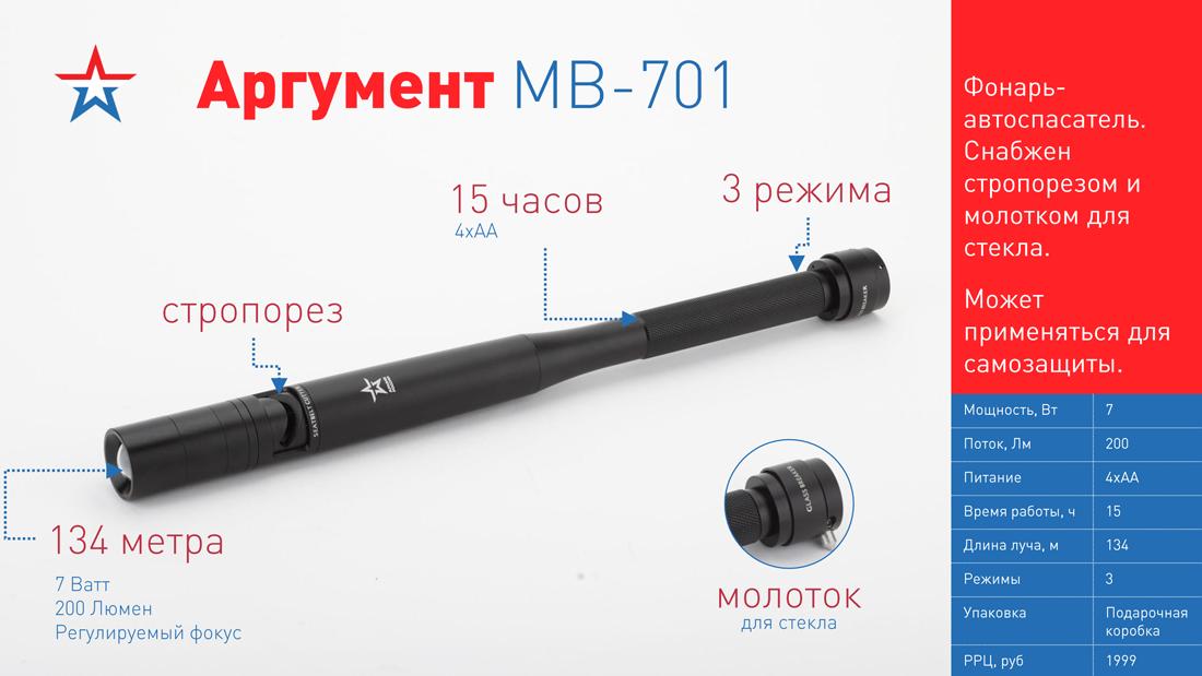 MB-701 Фонарь ЭРА АРМИЯ РОССИИ универс. Аргумент