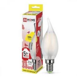 Лампа светодиодная IN HOME LED-eco-A60 Е27 4000К (груп. уп.3шт) в ассортименте